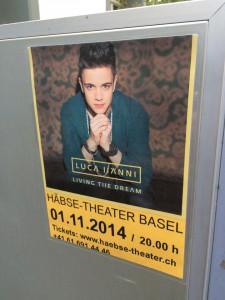 Plakat für das Konzert von Luca Hänni